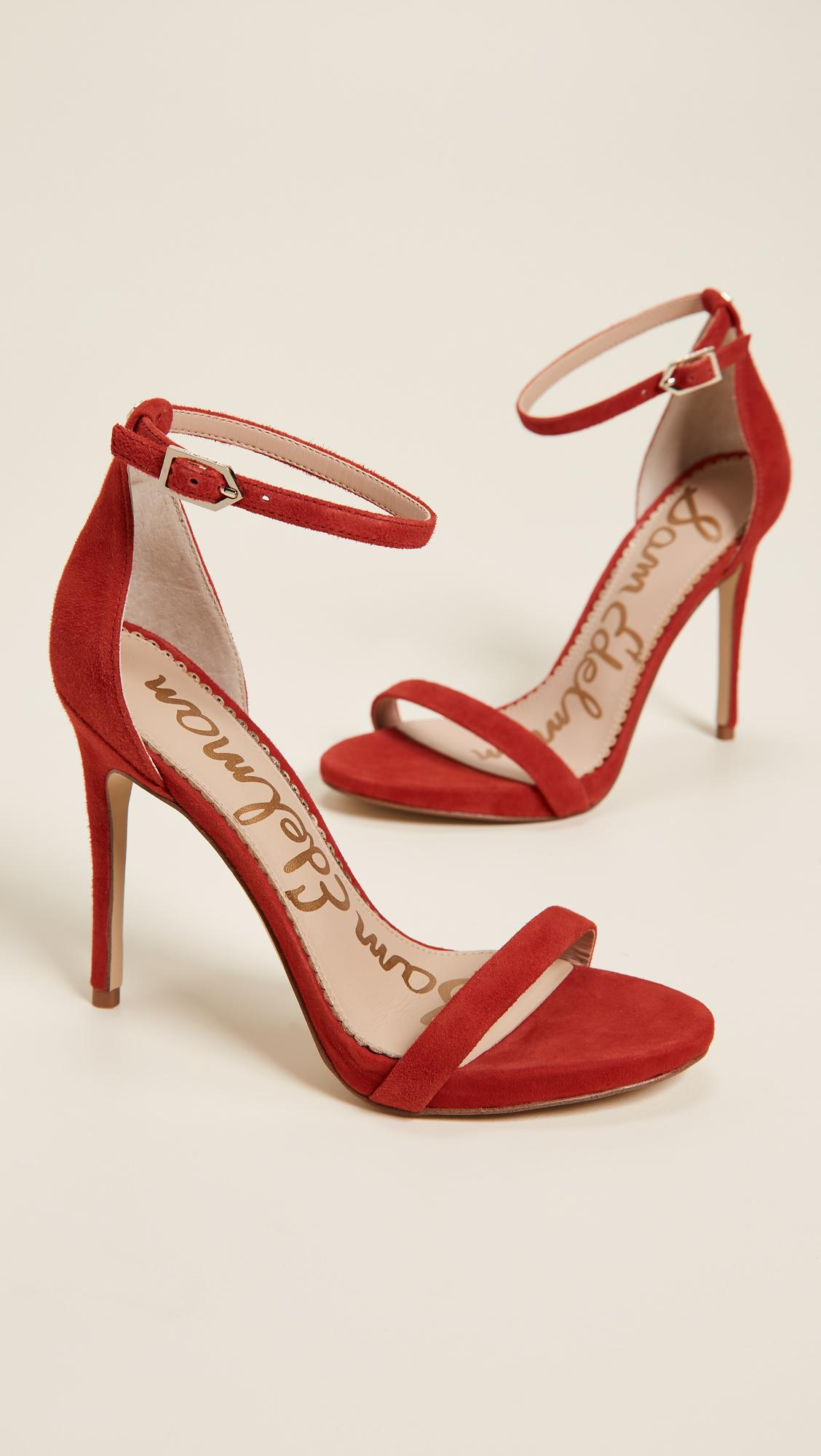 da80630f8188 Sam Edelman Ariella Sandals In Candy Red