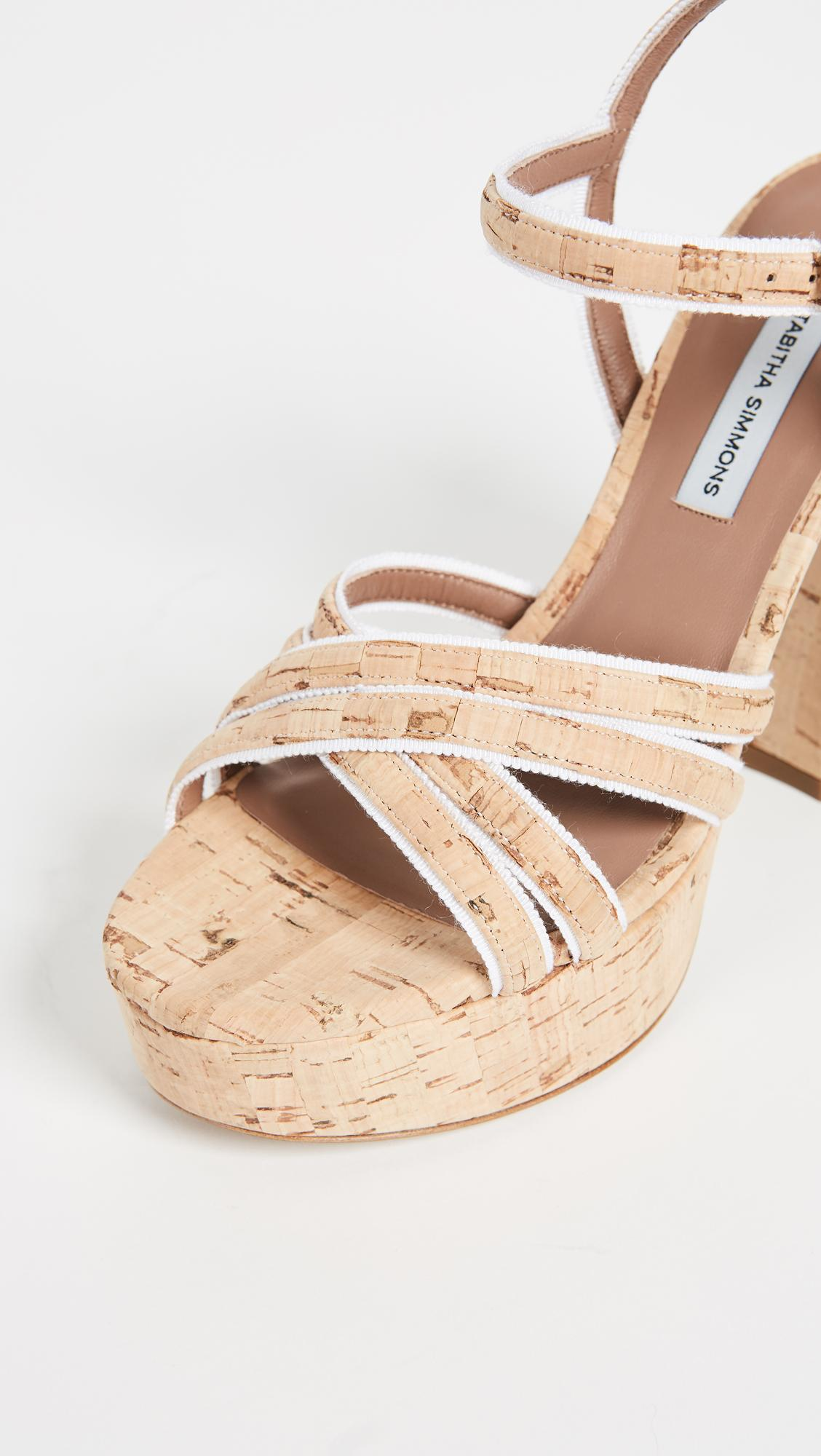 Tabitha Simmons Women's Hensley Cork Platform High-Heel Sandals In Natural/White
