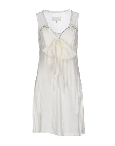Maison Margiela Short Dress In Ivory