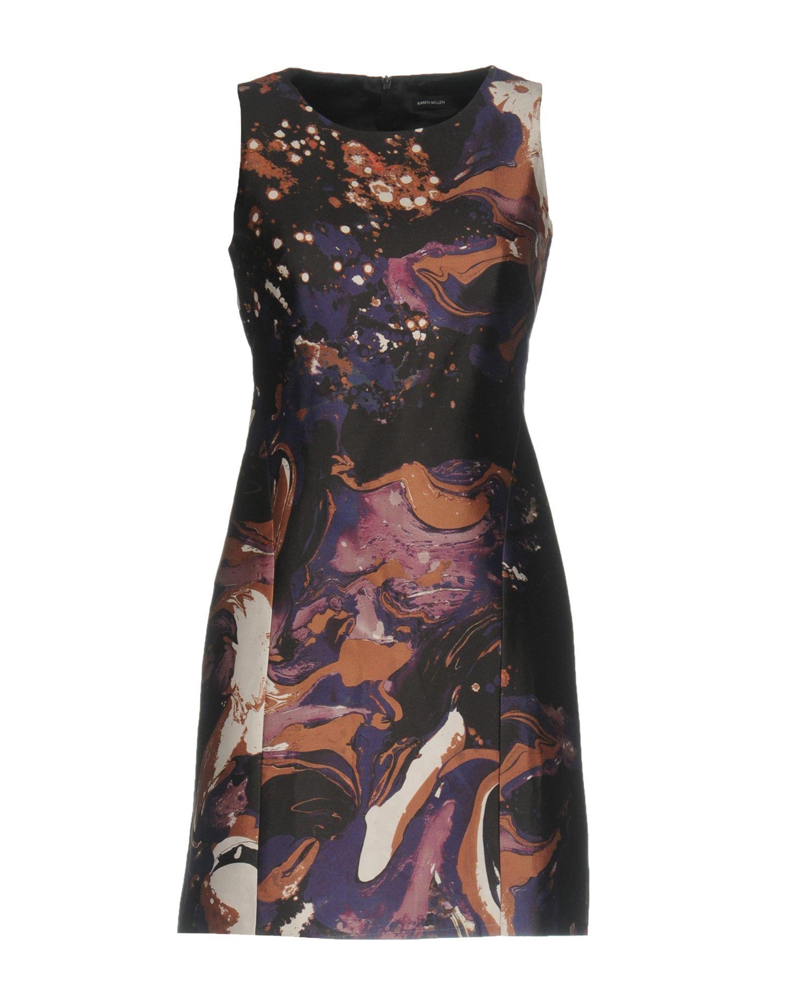 Karen Millen Short Dresses In Purple