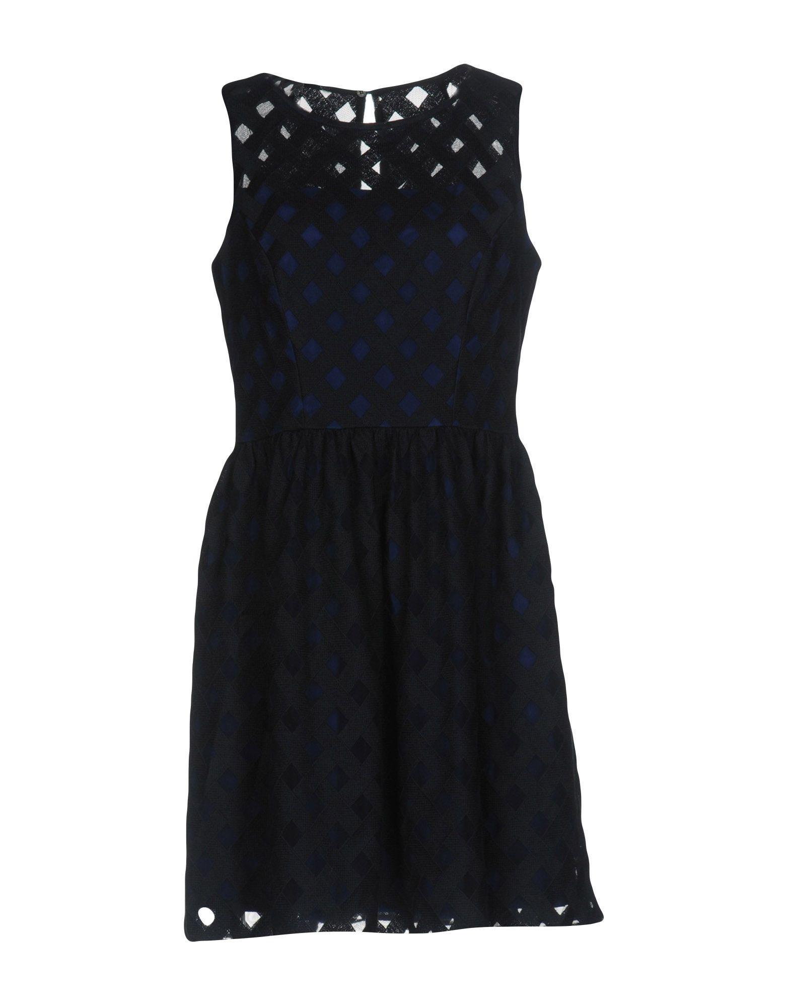 Karen Millen Short Dresses In Dark Blue