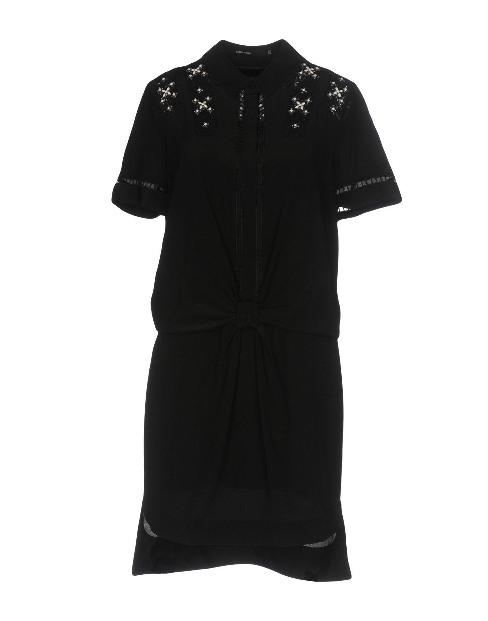 Karen Millen Short Dresses In Black