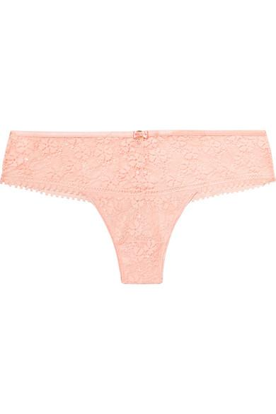 Chantelle Batignolles Stretch-Lace Briefs In Pastel Pink