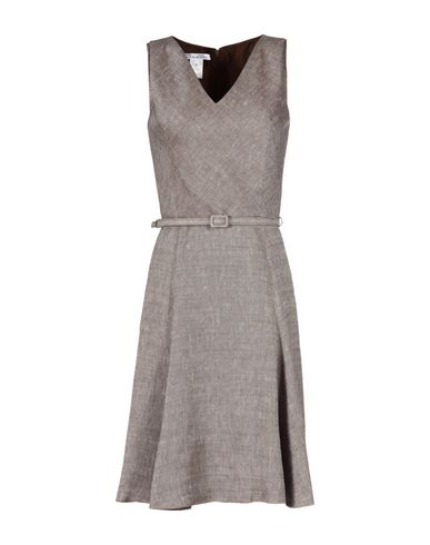 Oscar De La Renta Knee-length Dress In Brown