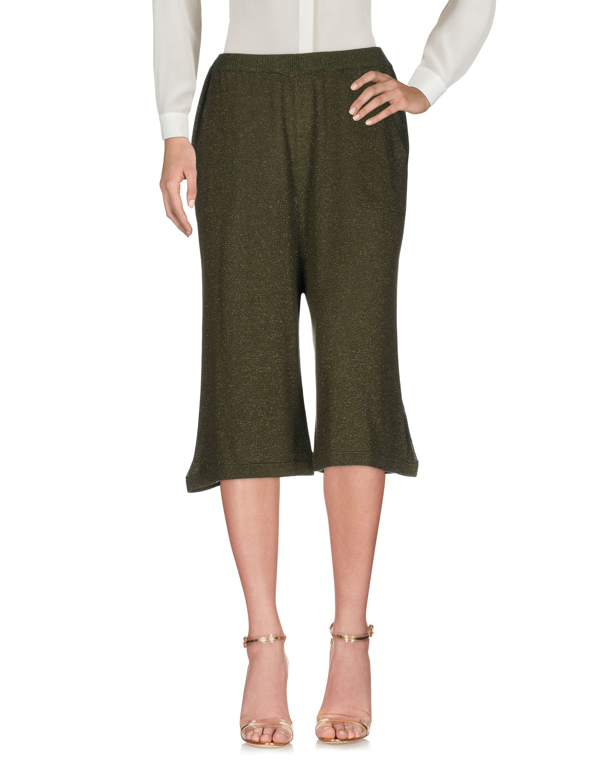 Chiara Bertani Cropped Pants & Culottes In Military Green