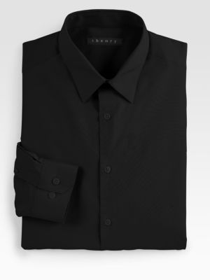 Theory Slim-fit Dover Sword Dress Shirt In Black