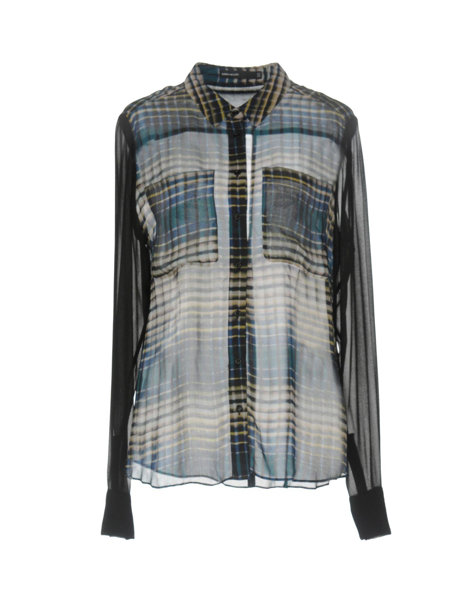Karen Millen Shirts In Dark Green