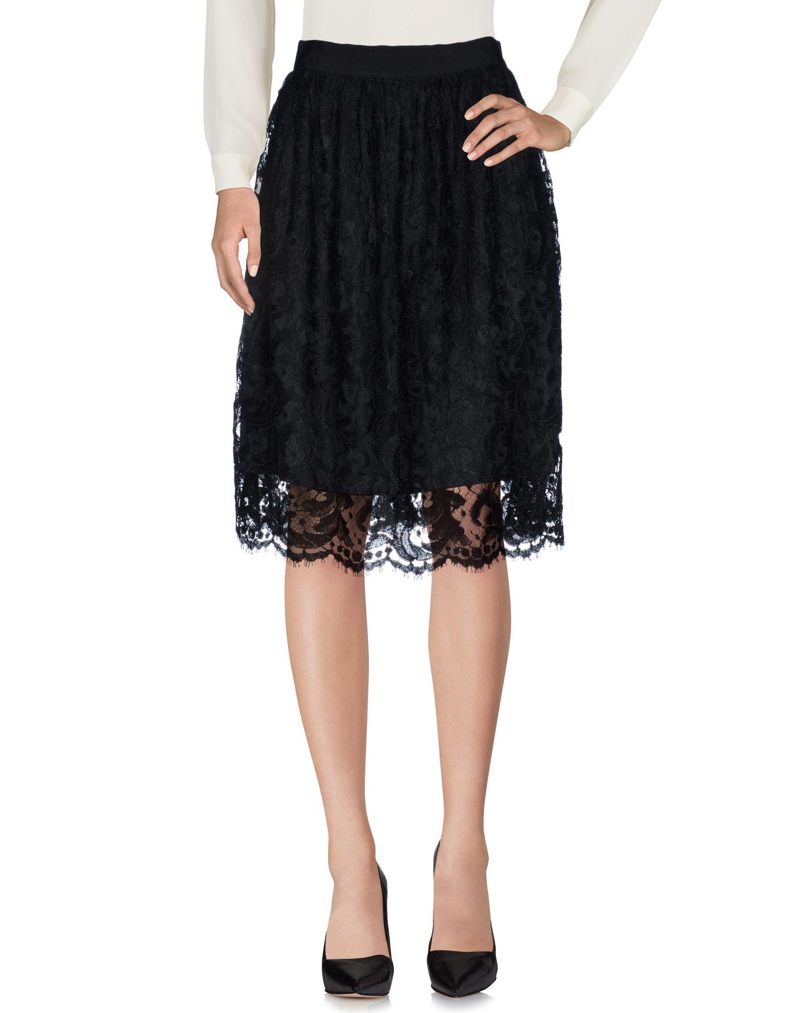 Karen Millen Knee Length Skirts In Black