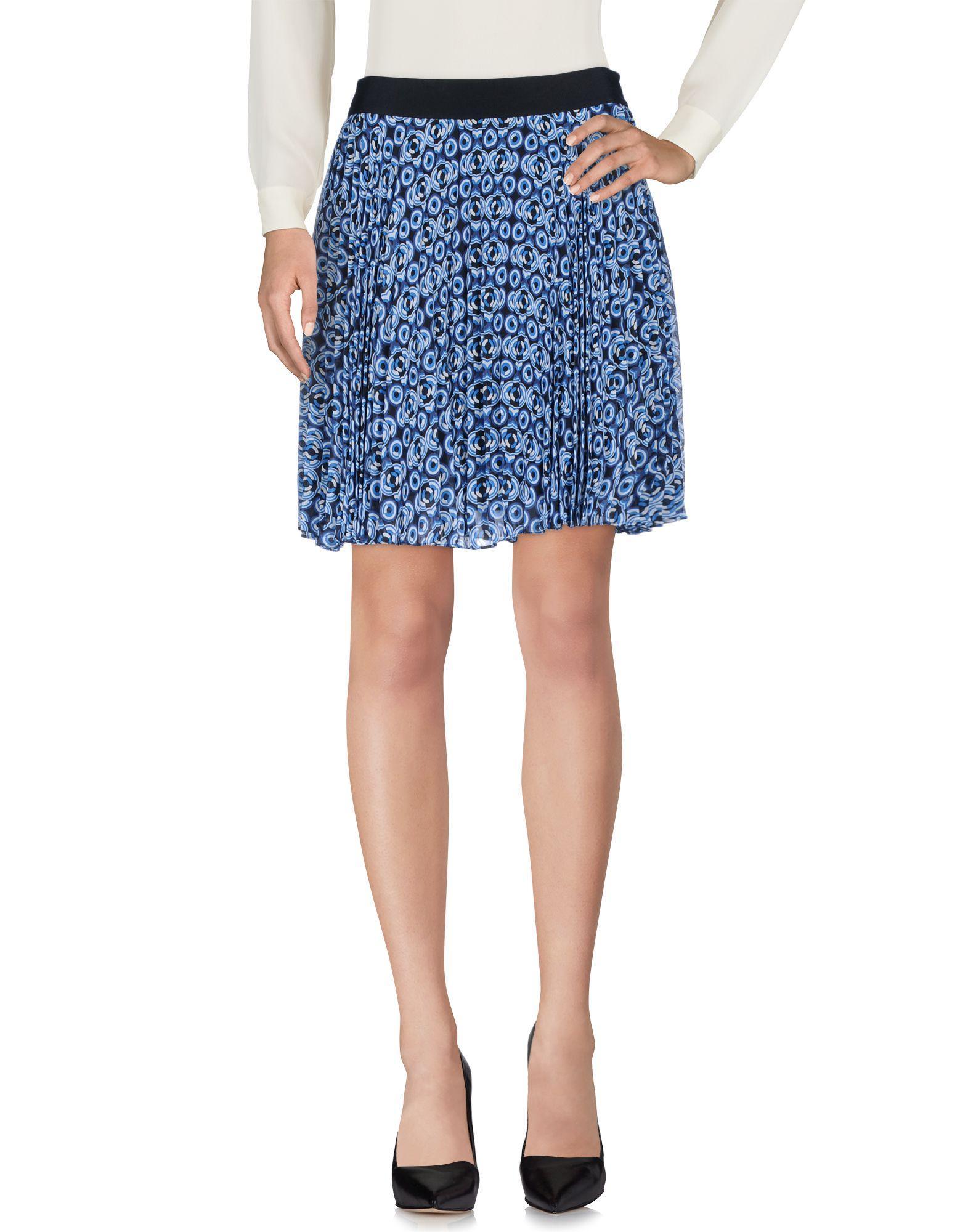 Karen Millen Knee Length Skirts In Blue