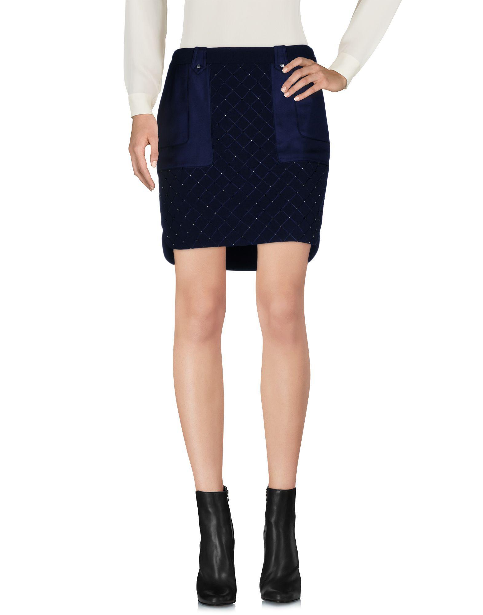 Karen Millen Mini Skirts In Dark Blue
