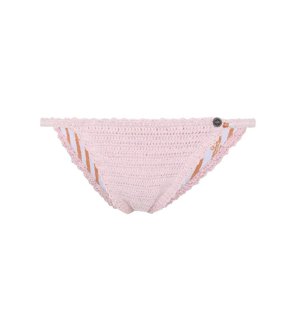 She Made Me Sita Crocheted Bikini Bottoms In Pink