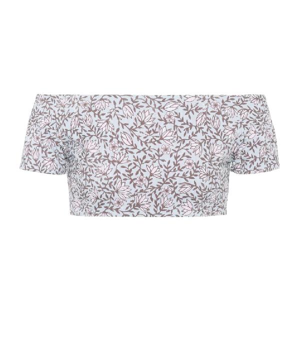 She Made Me Sita Floral-printed Bikini Top In Multicoloured
