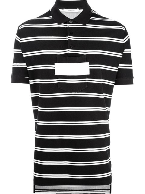 Givenchy Stylised Polo Shirt In Black