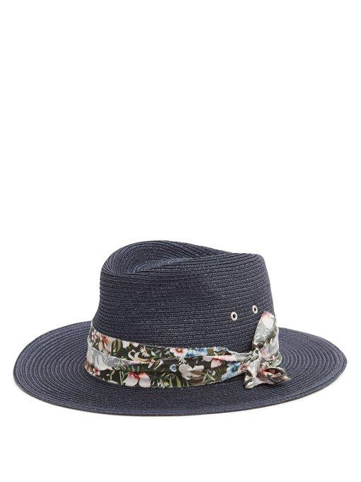 d1e7f408b6a6e Maison Michel - Thadee Straw Hat - Womens - Navy