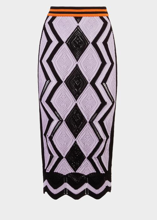 49f6336202 Versace Color Curve Knit Pencil Skirt In Print | ModeSens