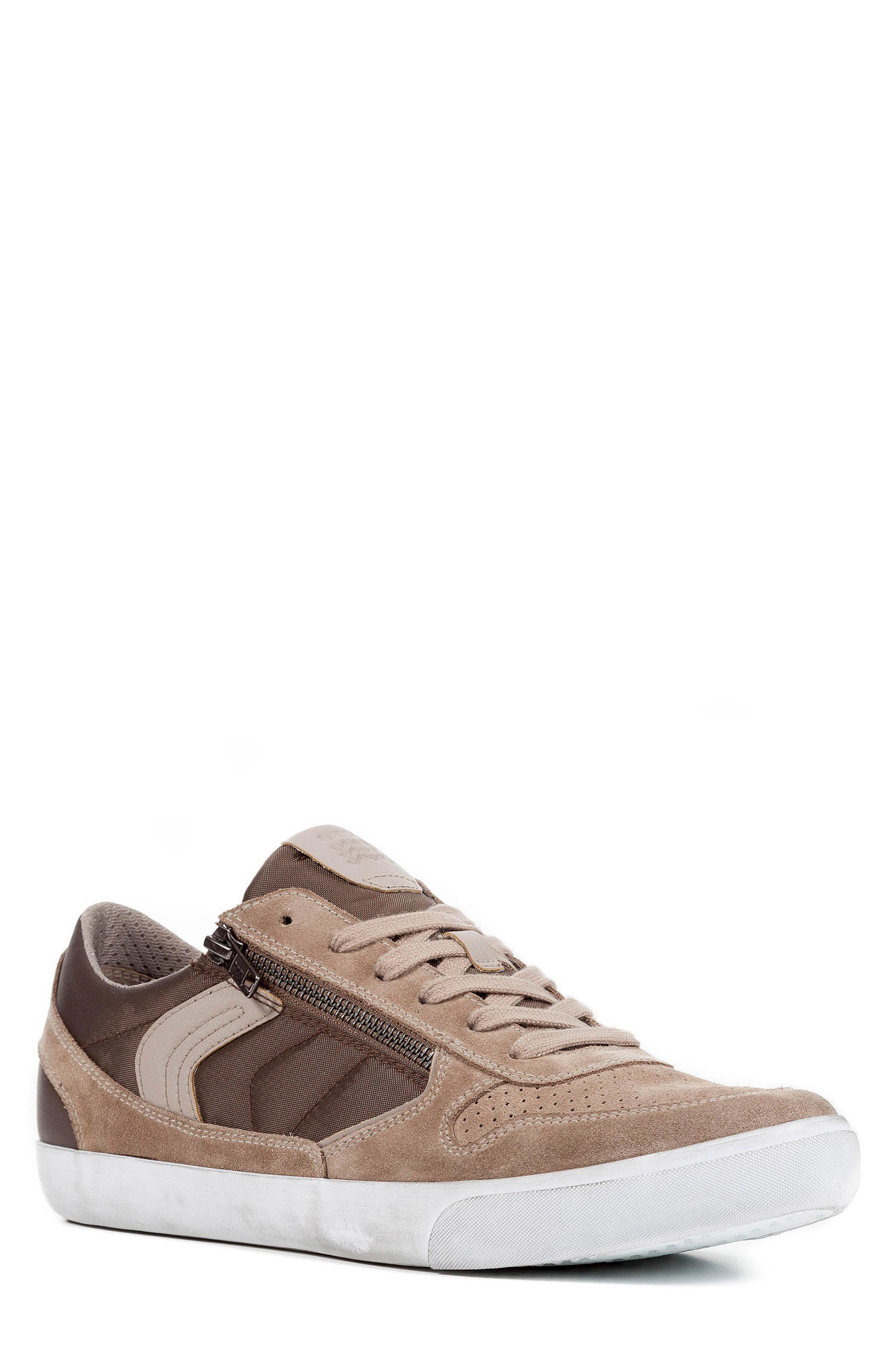 schnüren in retro Wählen Sie für offizielle Geox Box 33 Low Top Zip Sneaker In Sand/ Brown   ModeSens