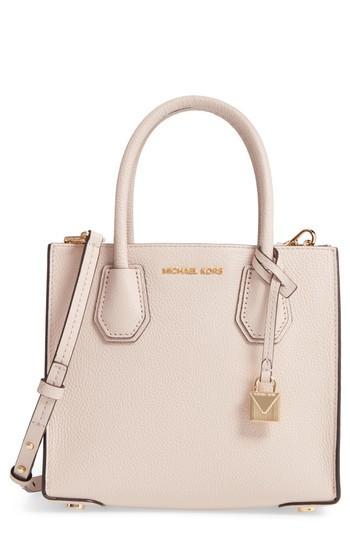 b3182525af65 Michael Michael Kors Mercer Leather Crossbody Bag - Pink In Soft Pink