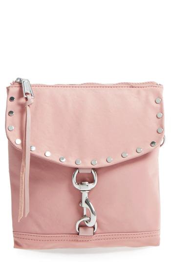 e29729594 Rebecca Minkoff Nylon Flap Crossbody Bag - Pink In Vintage Pink ...
