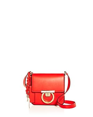 Salvatore Ferragamo Gancio Lock Leather Crossbody Bag - Coral  59f71022a7895