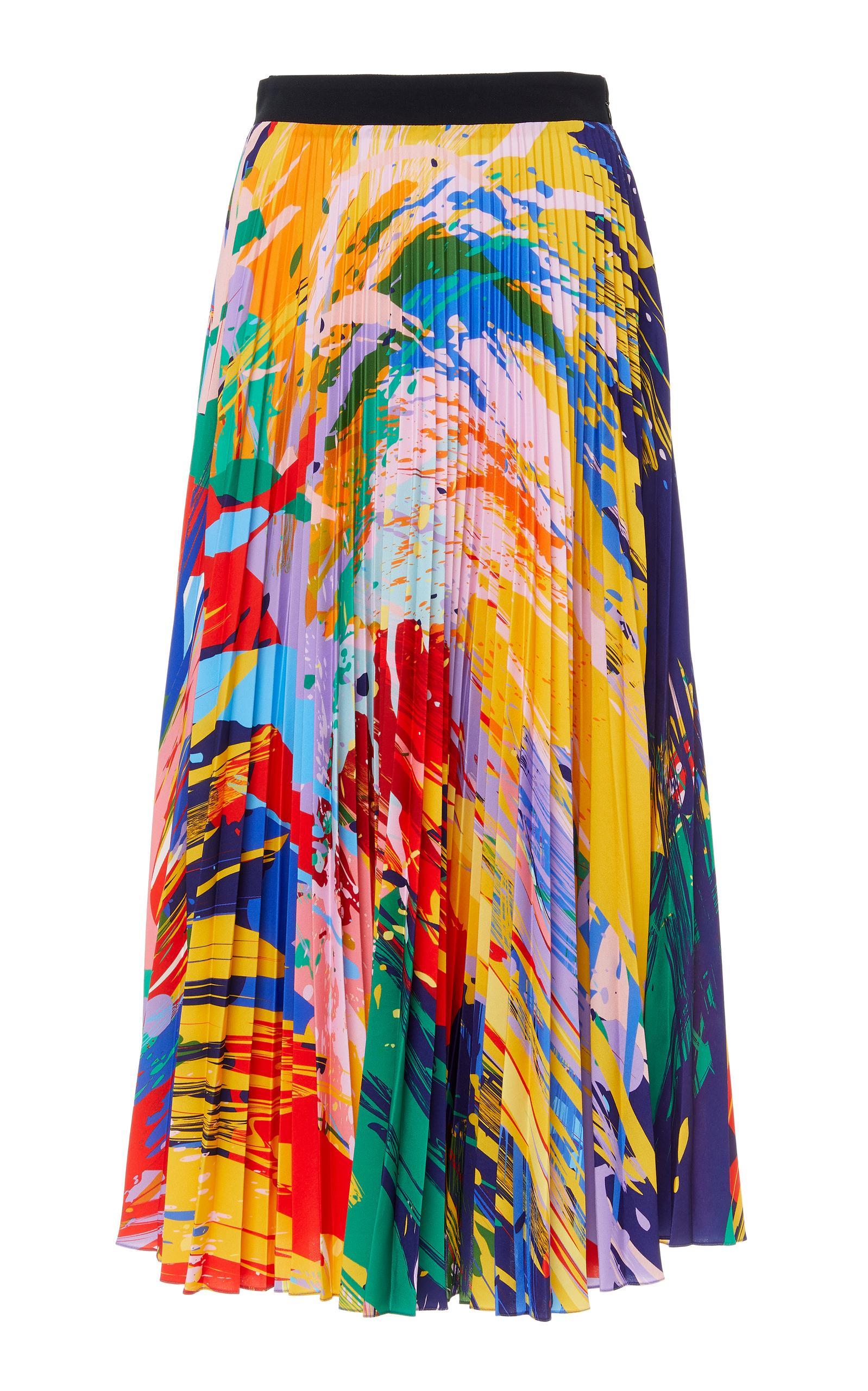 bc9f659fc1 Mary Katrantzou Uni Pleated Skirt In Multi | ModeSens