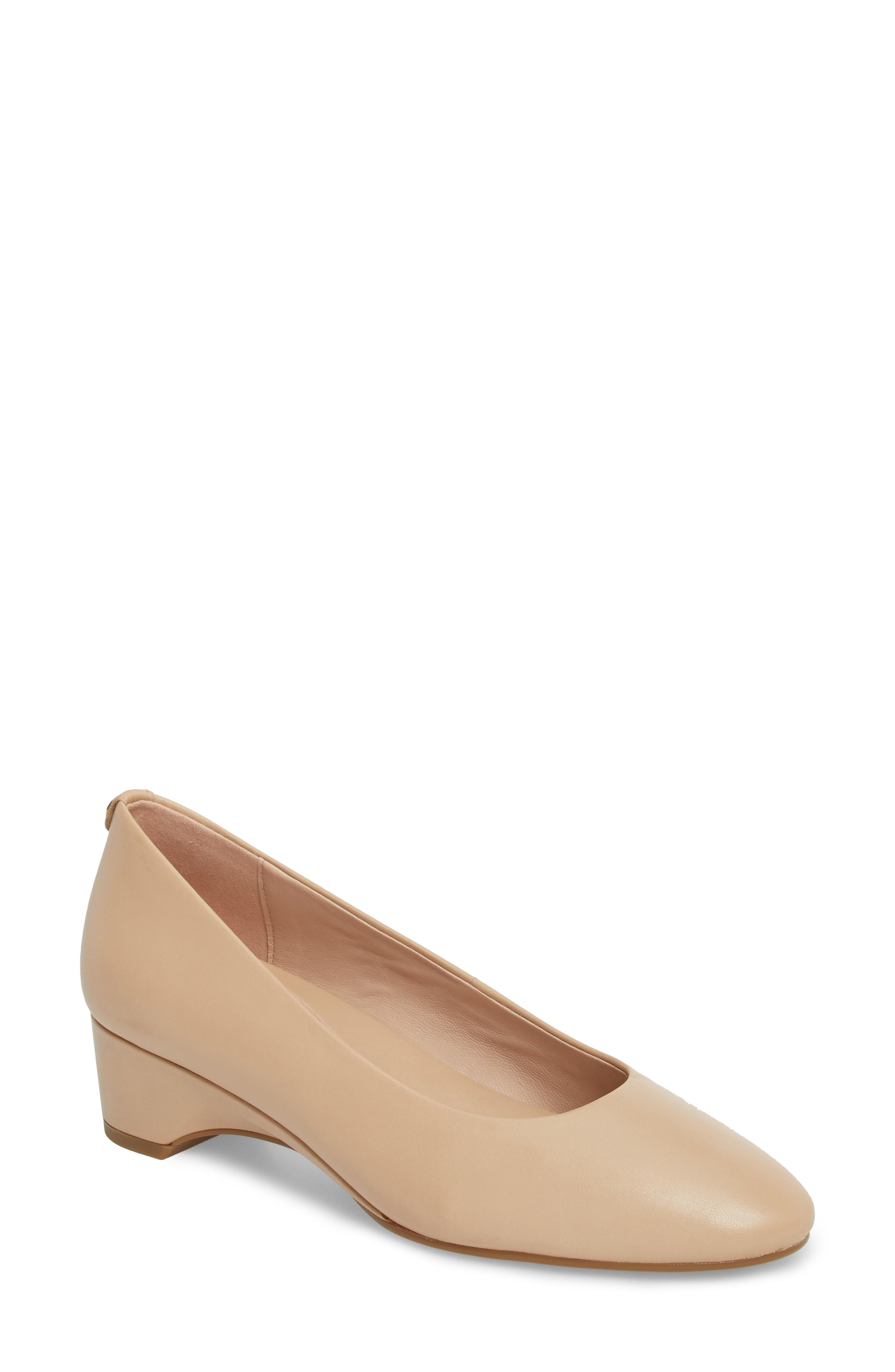 c5d8cd69de39 Taryn Rose Babs Soft Patent Leather Demi Wedge Fort Pump In