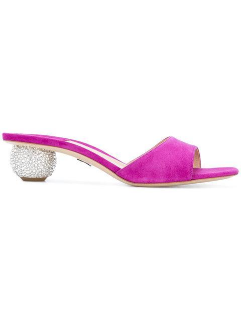 Paul Andrew Globe Heel Sandals In Pink