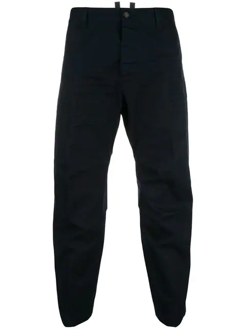 Dsquared2 Casual Cropped Trousers In Black