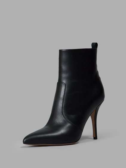 Valentino Garavani Black Rockstud 110 Leather Ankle Boots