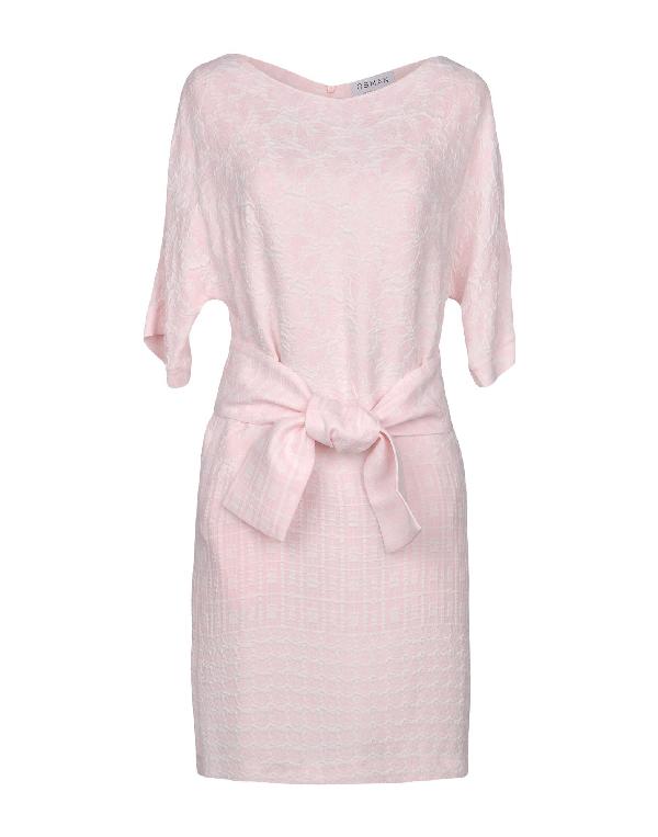 Osman Short Dress In Pink