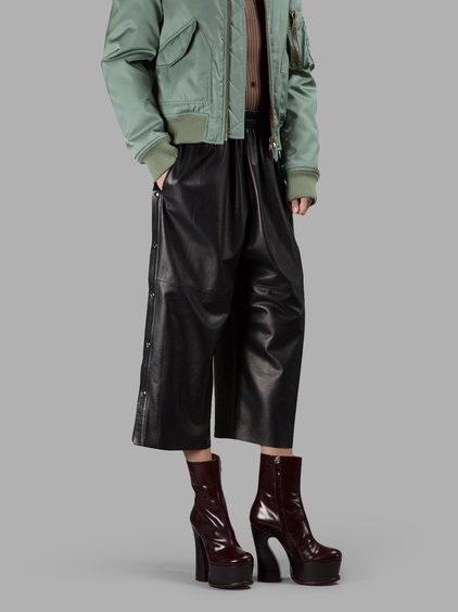 Maison Margiela Black Cropped Trousers