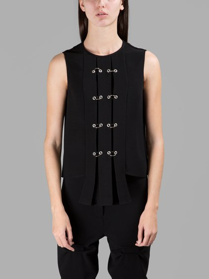 Jw Anderson Black Panel Top With Rings