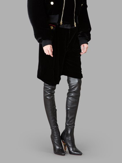 Givenchy Woman Velvet-trimmed Crepe Shorts Black