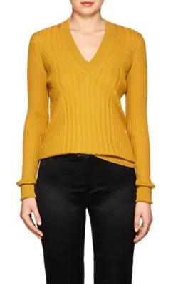 Maison Margiela Wool V-Neck Sweater - Yellow