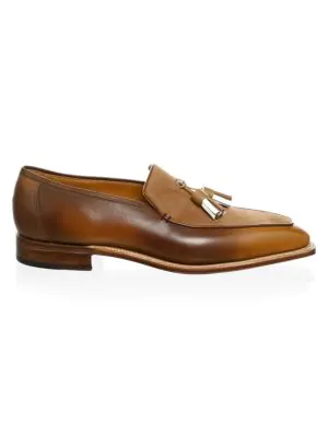 Corthay Dover Tassel Pullman Loafers In Brown