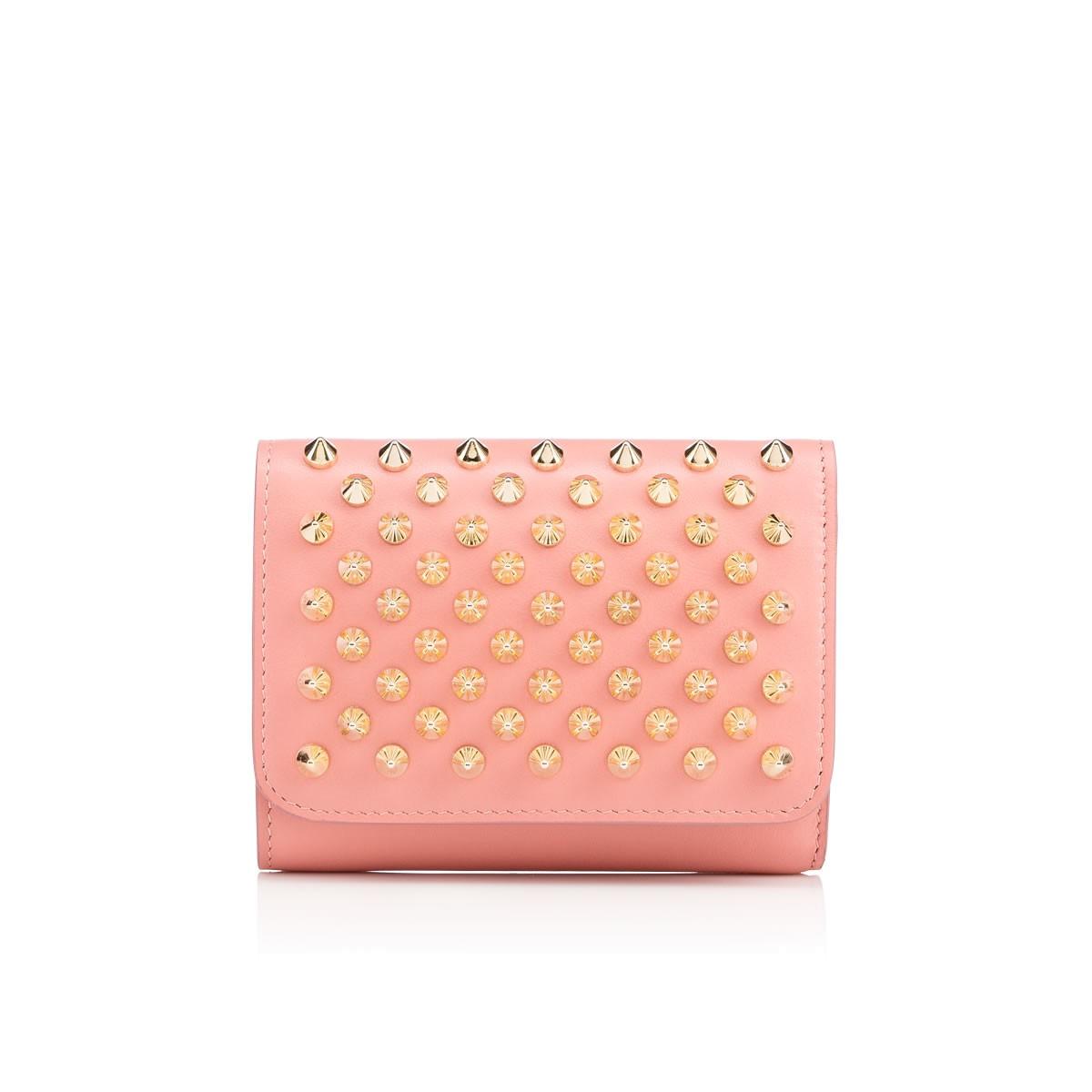 b61d0608b2b Macaron Mini Studded Leather Wallet in Ronsard