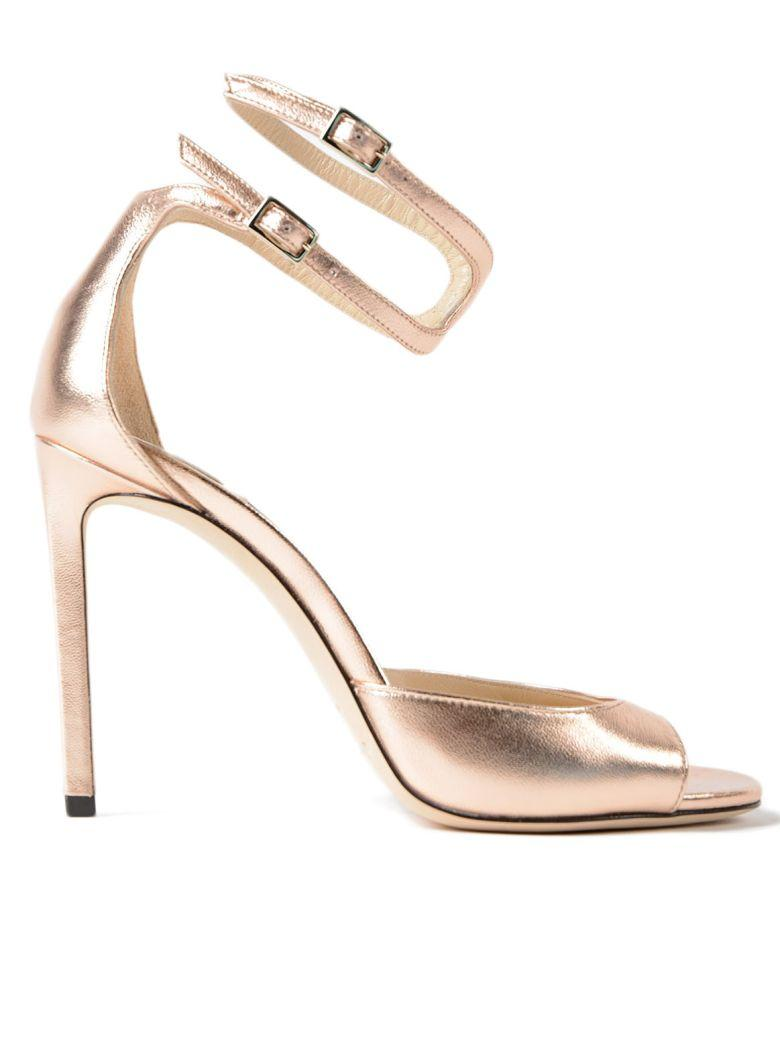 7558367e426 Jimmy Choo Lane 100 Leather Sandals In Metallic Rose-Gold