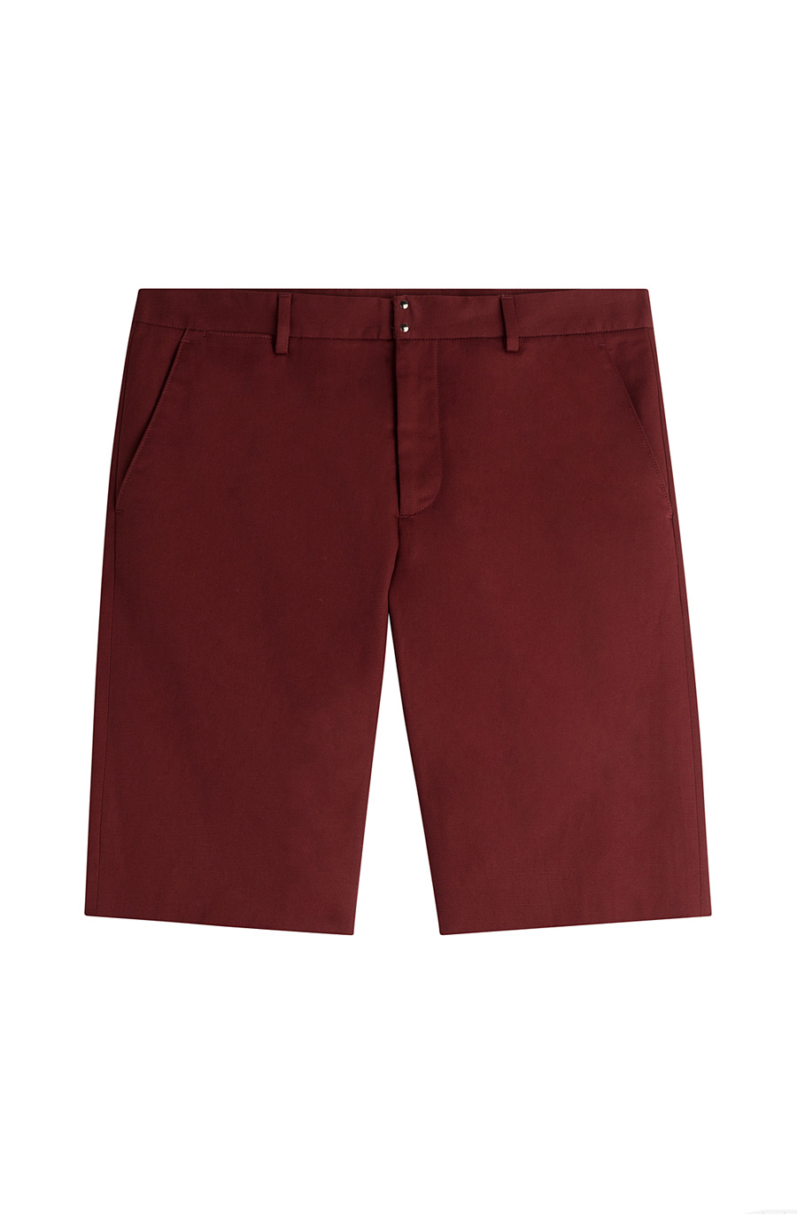 Maison Margiela Cotton-linen Shorts In Red