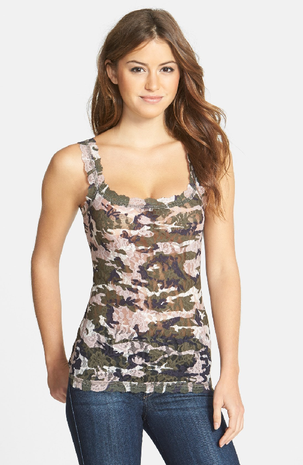 Hanky Panky 'Hunter' Lace Camisole In Taupe Green
