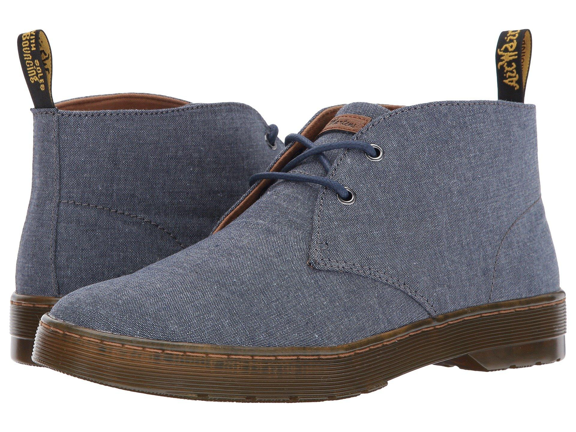 3723b317281 Mayport 2-Eye Desert Boot, True Navy Chambray Twill/Tan Knott