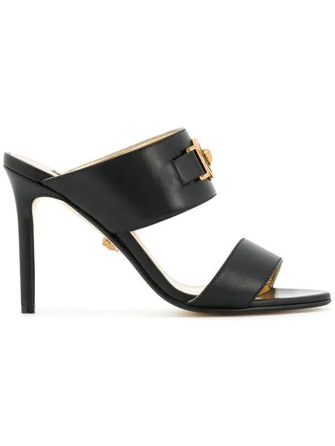 Versace Slip-On Medusa Sandals In Black