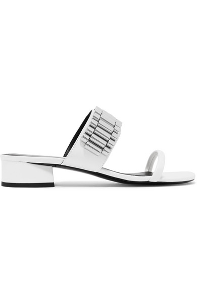 f8d04a82f 3.1 Phillip Lim Drum Chain-Embellished Leather Sandals In White ...