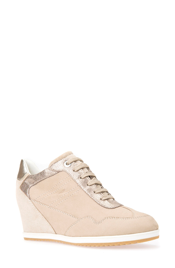 99f7db569c5 Geox Illusion 34 Wedge Sneaker In Sand Leather