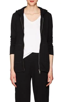 Atm Anthony Thomas Melillo Cotton Terry Zip-Front Hoodie In Black