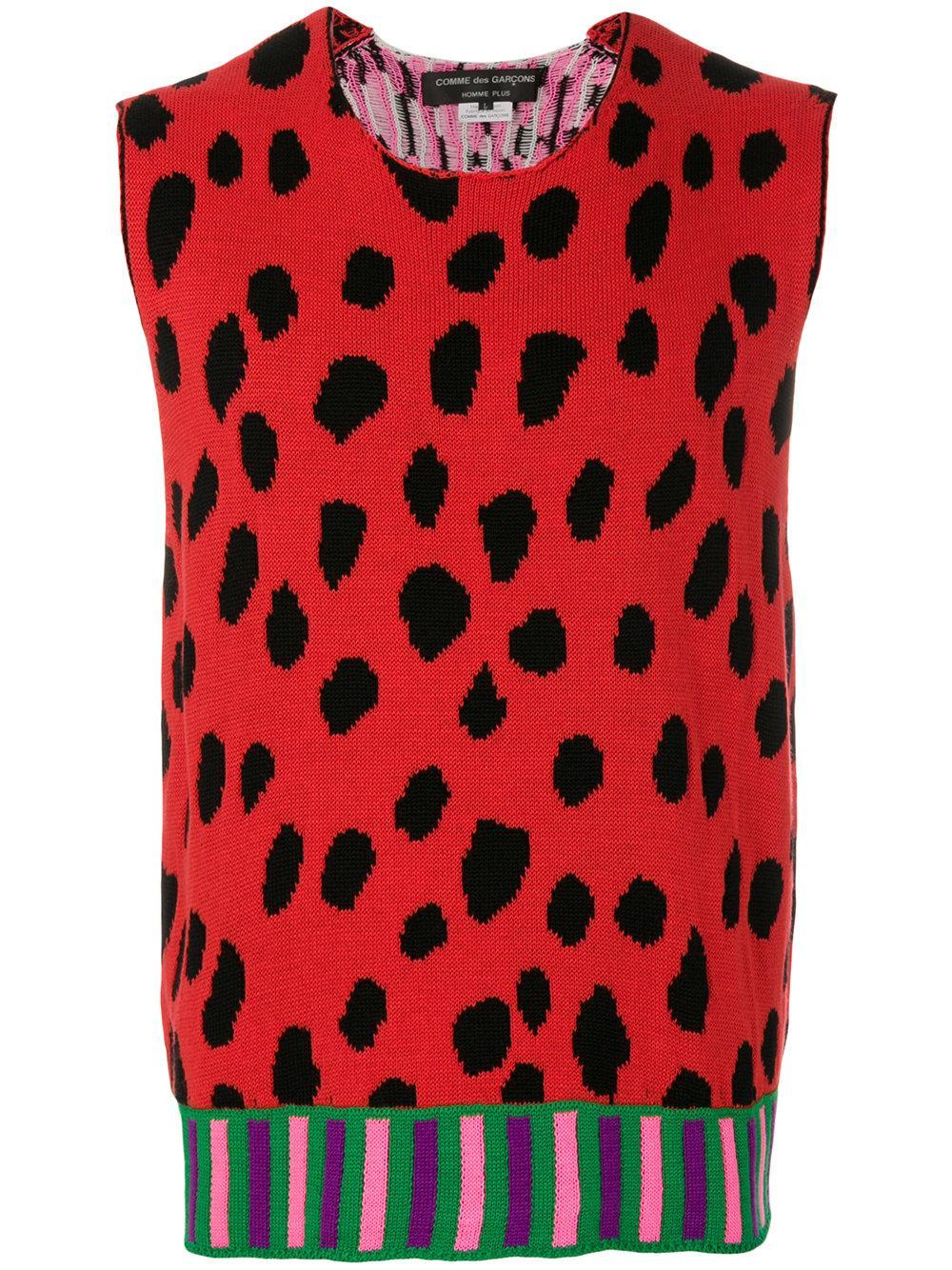 Comme Des GarÇOns Homme Deux Leopard Print Sweater Vest  f6820c61f