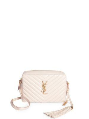 9708a83f1 Saint Laurent Small Leather Matelasse Monogram Lou Camera Bag In Light Pink