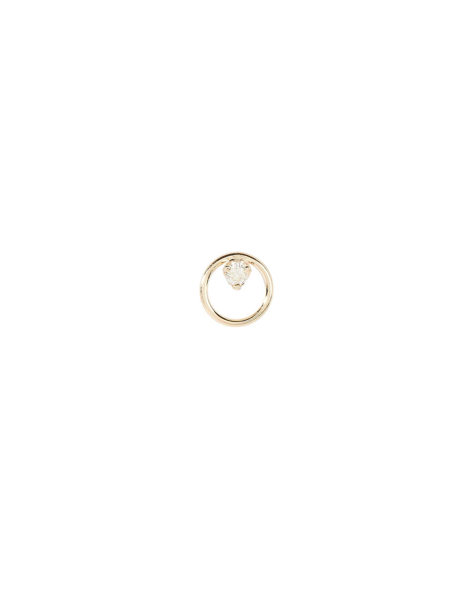 ZoË Chicco Single Diamond Circle Stud In Gold