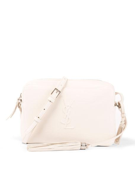 b66bac49bba Saint Laurent Small Mono Leather Camera Bag - Ivory In Creme