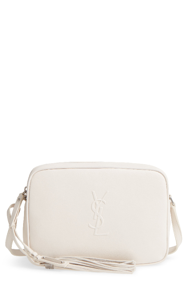 ad9221644eb Saint Laurent Small Mono Leather Camera Bag - Ivory In Creme | ModeSens