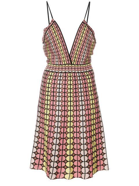 M Missoni Patterned Dress In Multicolour