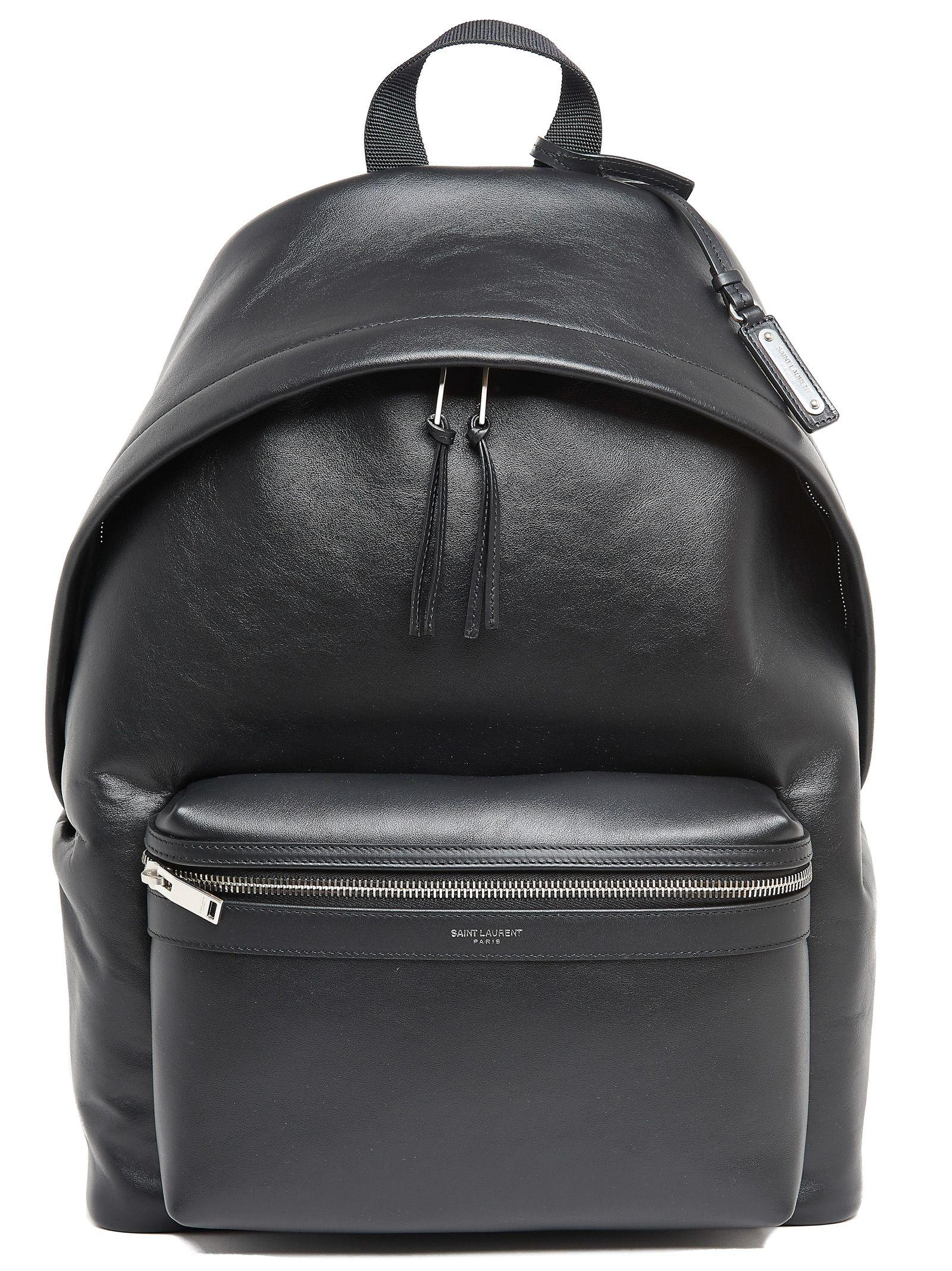 dca04604ce13 Saint Laurent Men S City Foldable Leather Backpack In Black